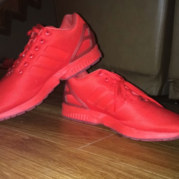 sale retailer 7ce97 5aa10 Adidas zx flux red colorway